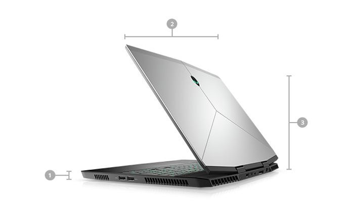 ALIENWARE AREA 51M CORE i7 RTX 2070 LAPTOP WITH 256GB SSD AND 12GB RAM
