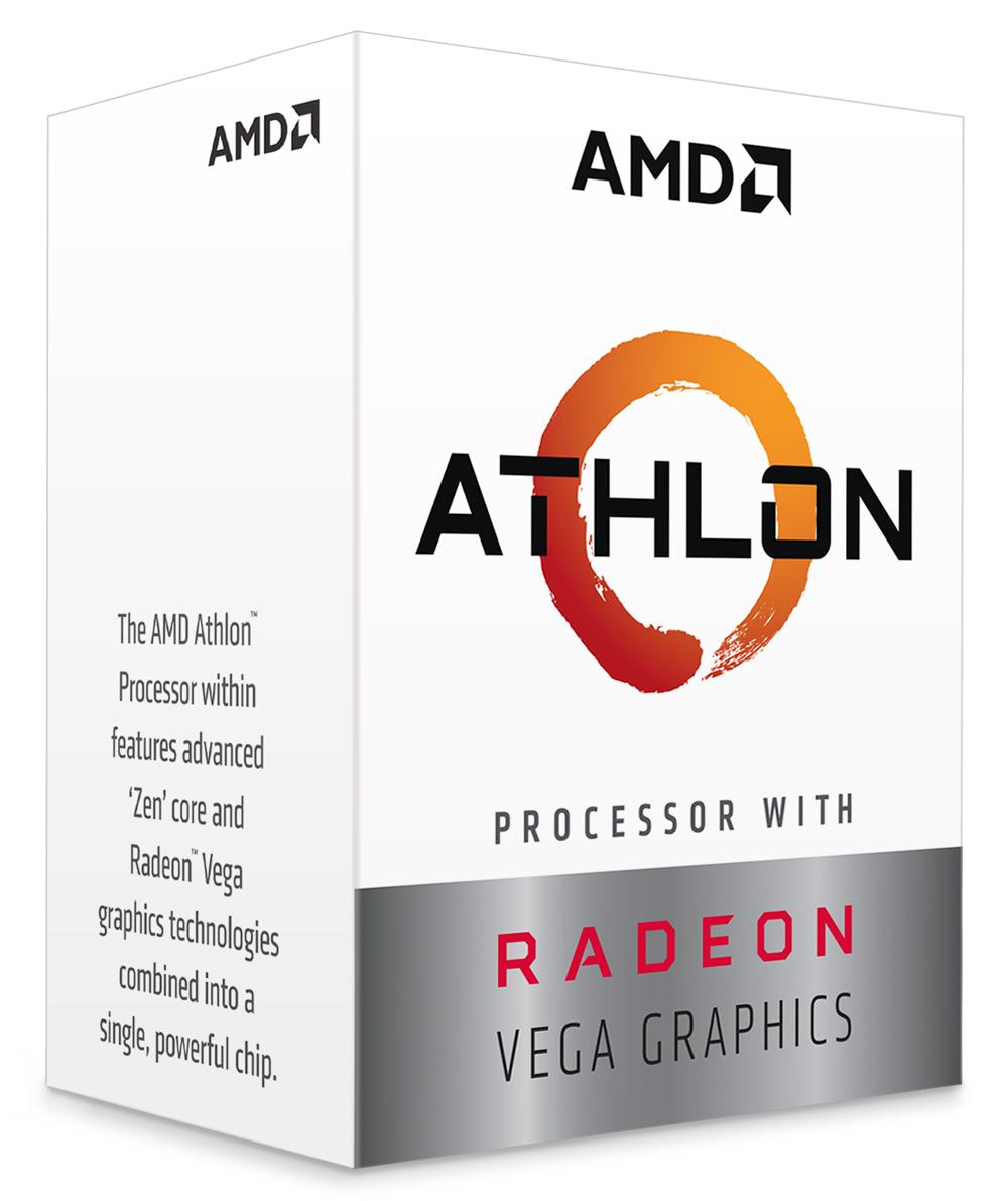 AMD Athlon 200GE AM4 APU with Vega 3 Graphics
