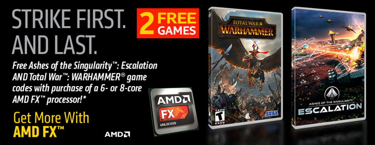 GET 2 FREE GAMES (Ashes of the Singularity: Escalation & Total War: Warhammer) From AMD