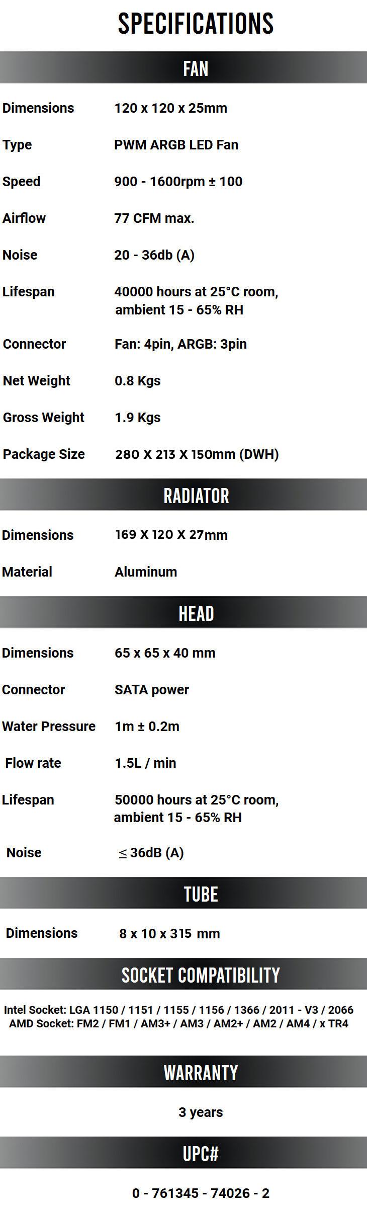 Antec Neptune 120 ARGB AIO Liquid Cooler