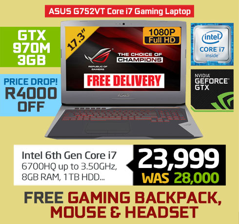 ASUS ROG G752VT Gaming Laptop on Special