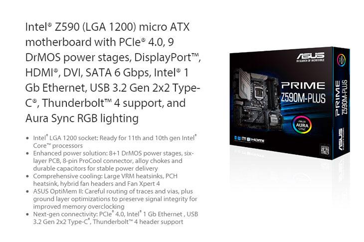 ASUS PRIME Z590M-PLUS Intel Motherboard