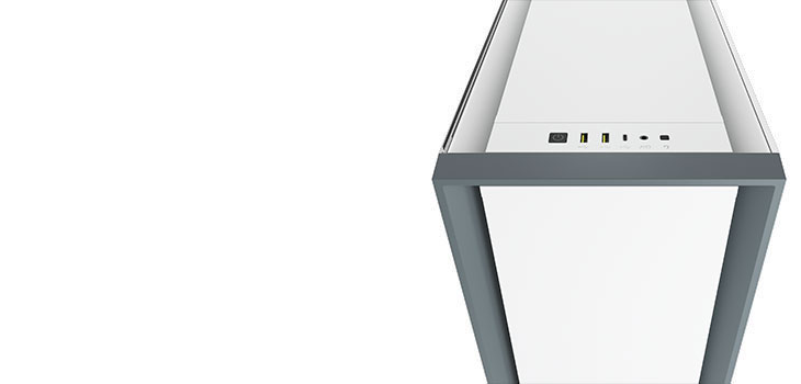 Corsair 5000D Tempered Glass Gaming Case - white