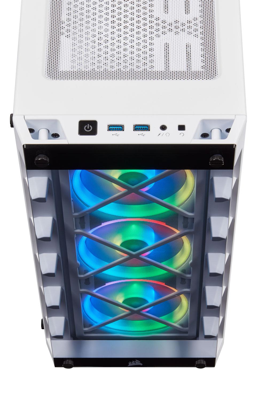 Corsair iCUE 465X RGB ATX Smart Case - White