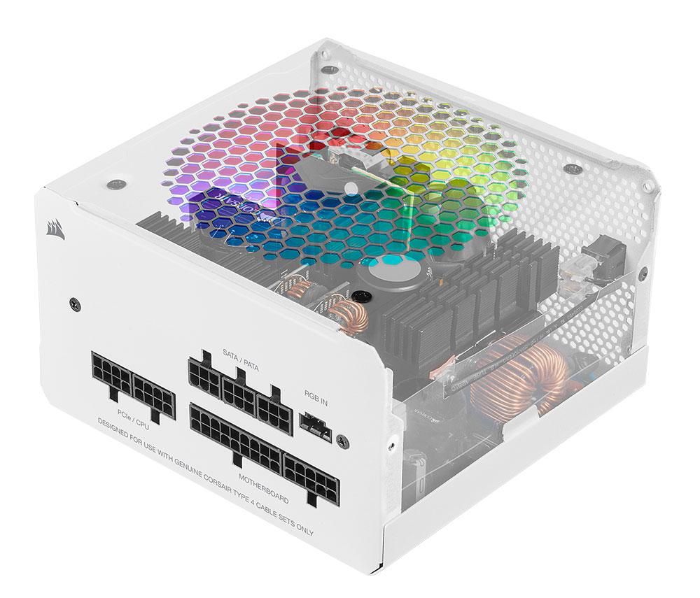 Corsair CX550F 550W RGB Power Supply - White