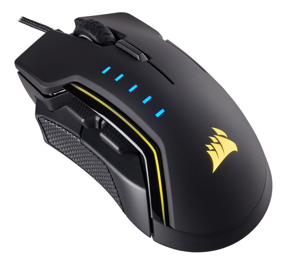 Corsair Glaive RGB  Black Optical Gaming Mouse
