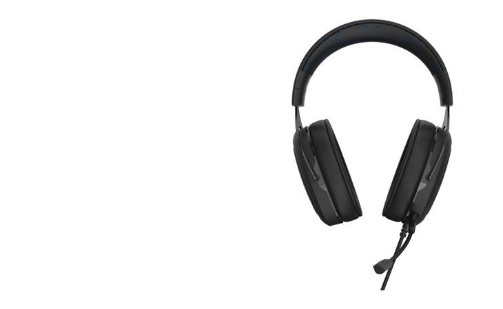 Corsair HS50 Pro Stereo Gaming Headset - Black/Blue