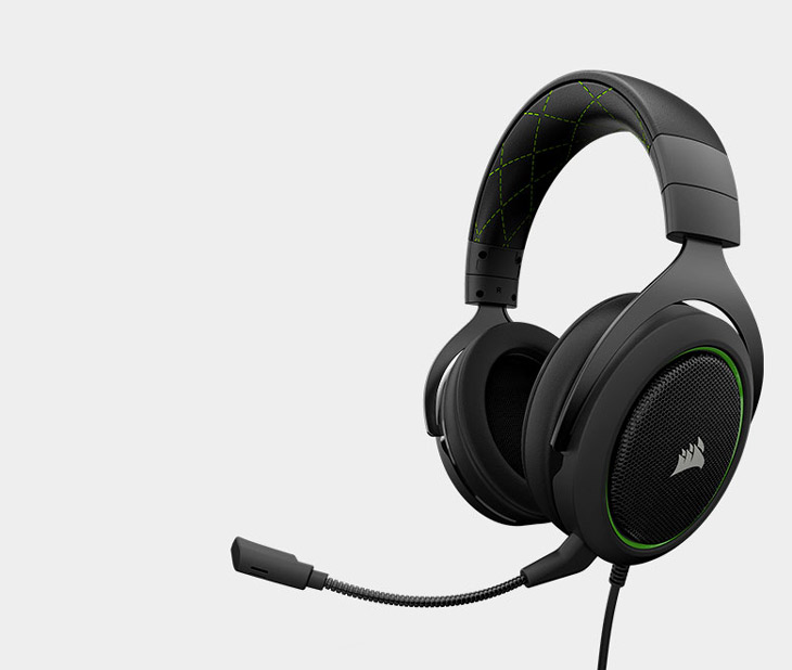 Corsair HS50 Stereo Gaming Headset - Green