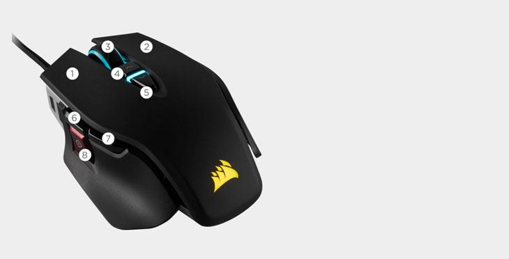 Corsair M65 RGB Elite Gaming Mouse - Black