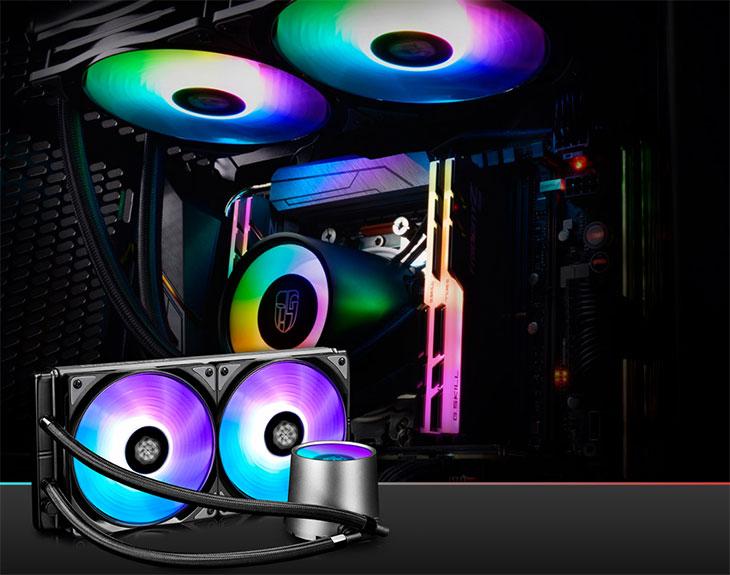 Deepcool Castle 280 RGB Liquid CPU Cooler