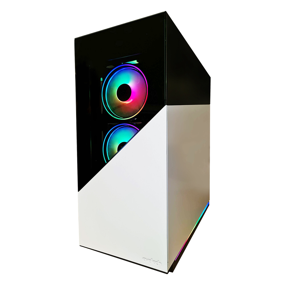 Evetech RIX Mid-Tower Gaming Case - White