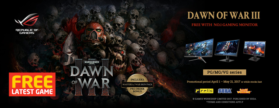 FREE DAWN OF WAR III With ASUS Gaming Monitors