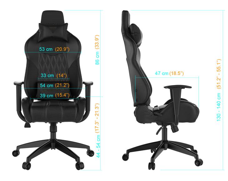Gamdias Achilles E2 Gaming Chair - Black/Red