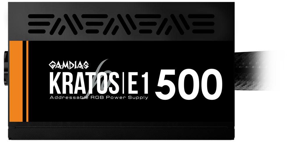 Gamdias KRATOS E1-500W RGB 500W Power Supply