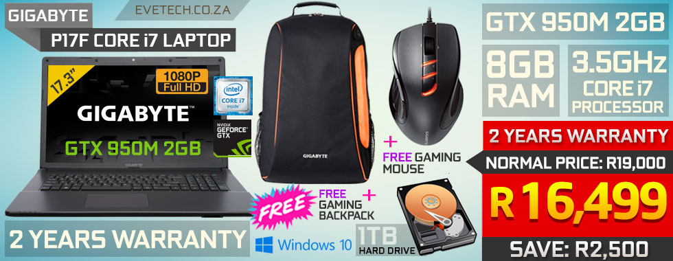 Gigabyte P17f V5 core i7 gaming laptop deal