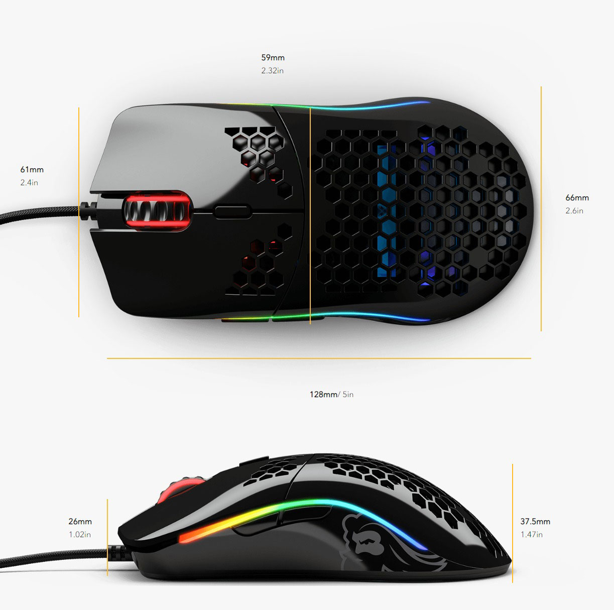 Glorious Model O Optical Gaming Mouse - Matte Black