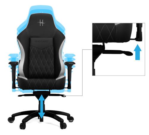 HHGears XL-800 PU Leather Gaming Chair - Black/White