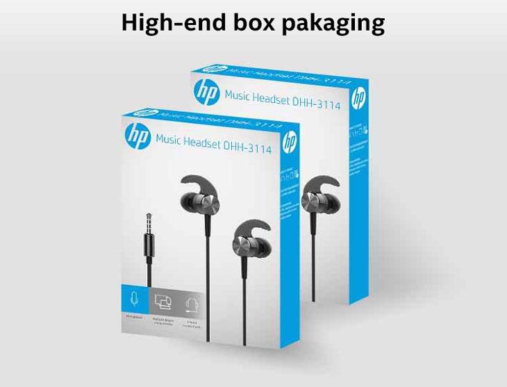 HP DHH-3114 Wired Earphone - Silver