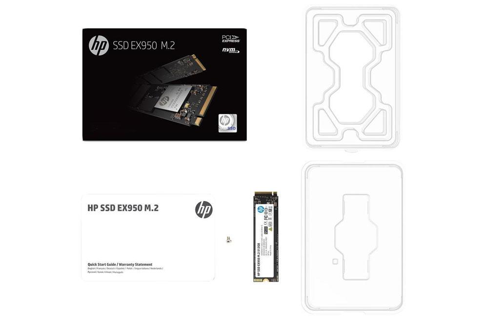 HP EX950 M.2 512GB  PCl-e NVMe Internal SSD