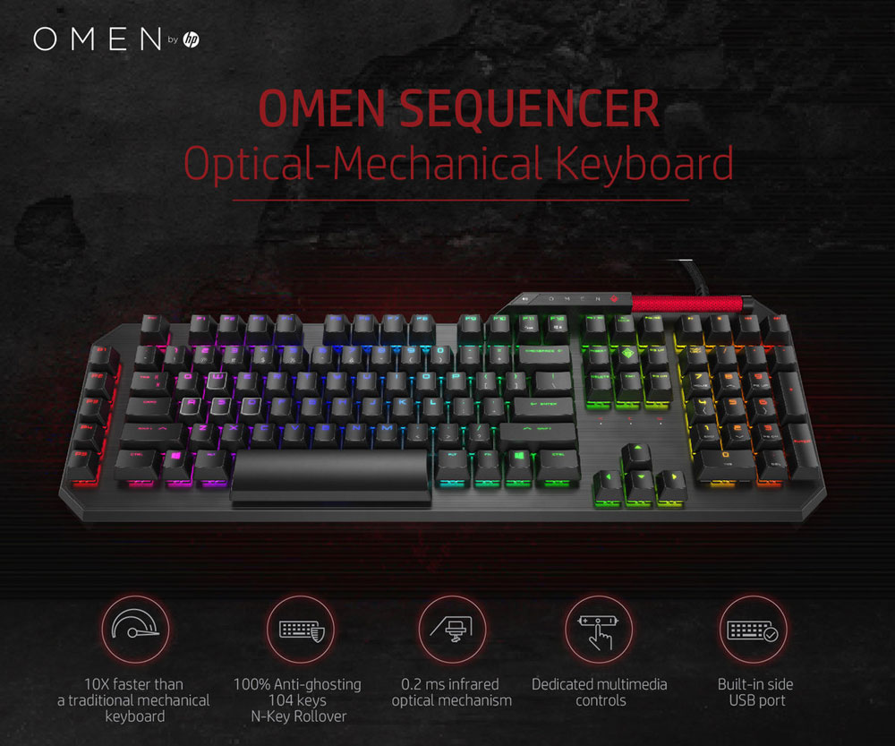 HP OMEN Sequencer Gaming Keyboard - Blue Switches