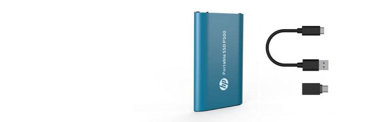 HP P500 Portable SSD-Silver