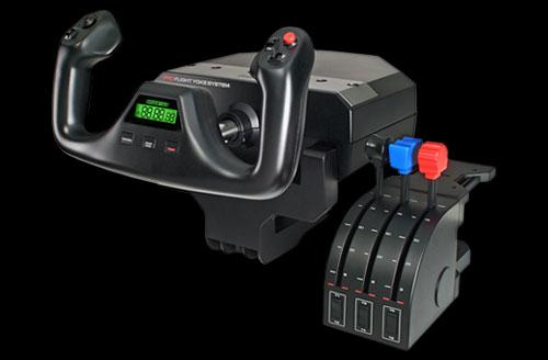 Logitech G Saitek Pro Flight Yoke System Professional Yoke And Throttle  Quadrant / 75 Programmable Options / Adjustable Mount / Modular Cockpit /  PRO