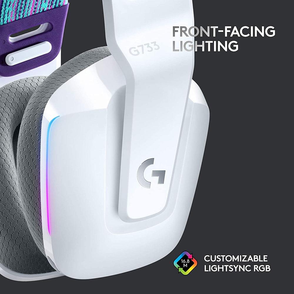Logitech G733 Wireless Gaming Headset - White
