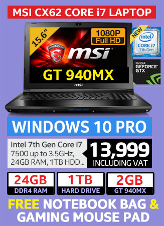 MSI CX62 core i7 Pro laptop on special with 24GB RAM