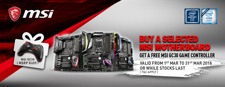 GET A FREE MSI GC30 Game Controller From MSI