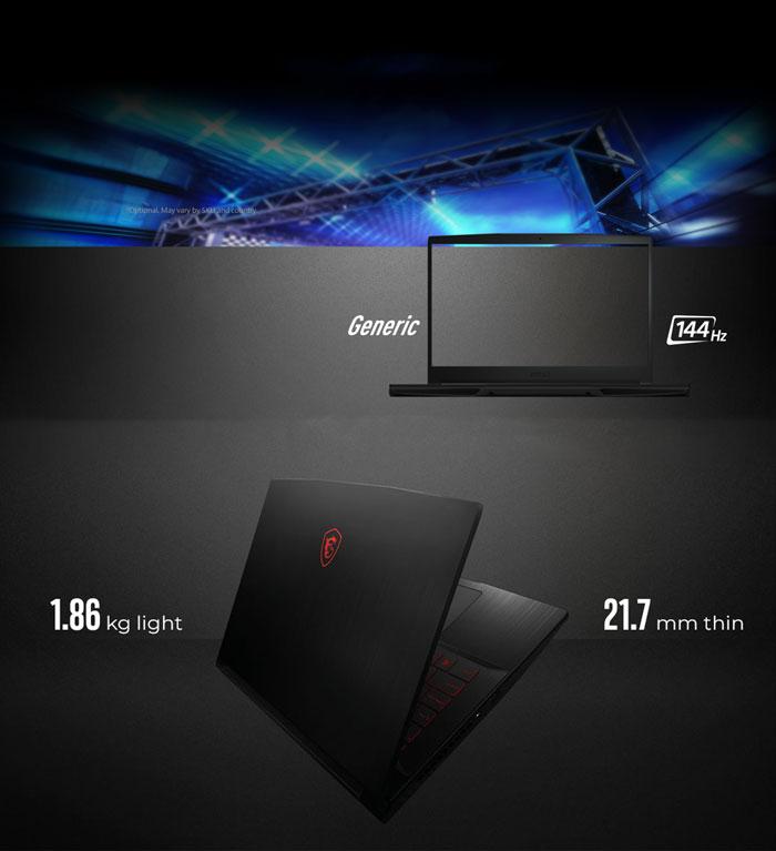 MSI GF63 Thin 10SCXR Core i7 GTX 1650 Gaming Laptop