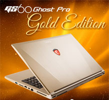 MSI GS60 Ghost Gold Edition