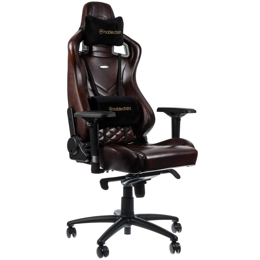 Enjoyable Noblechairs Epic Series Real Leather Gaming Chair Brown Black Premium Design Finest Design Solid Steel Frame Plenty Of Adjustment Max Load Ibusinesslaw Wood Chair Design Ideas Ibusinesslaworg