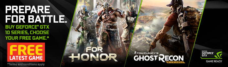 GET FREE LATEST PC GAME: (For Honor or Ghost Recon: Wildlands) From NVIDIA