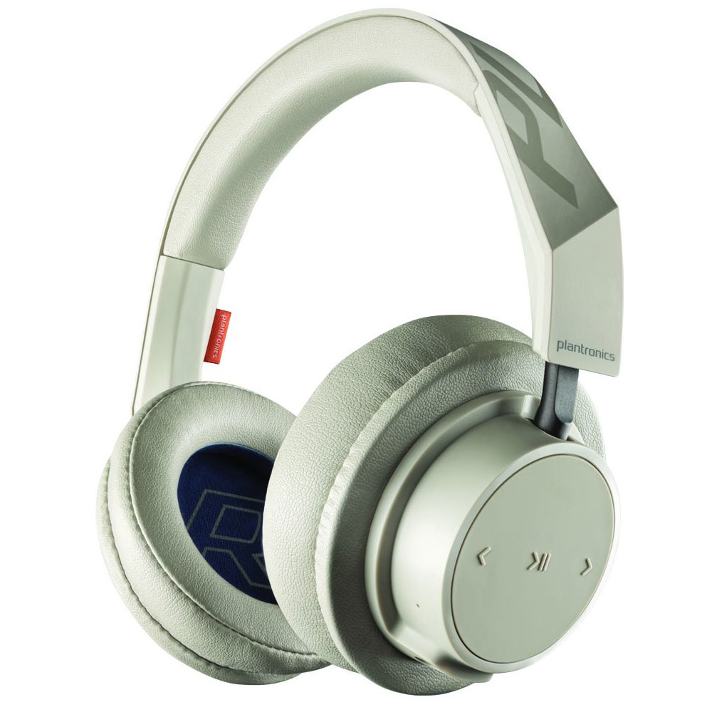 Plantronics Backbeat Go 600 Series Wireless Headset - Khaki / 18 Hours of  Listening And Talk Time / 40 mm Drivers With Signature Audio / Memory Foam