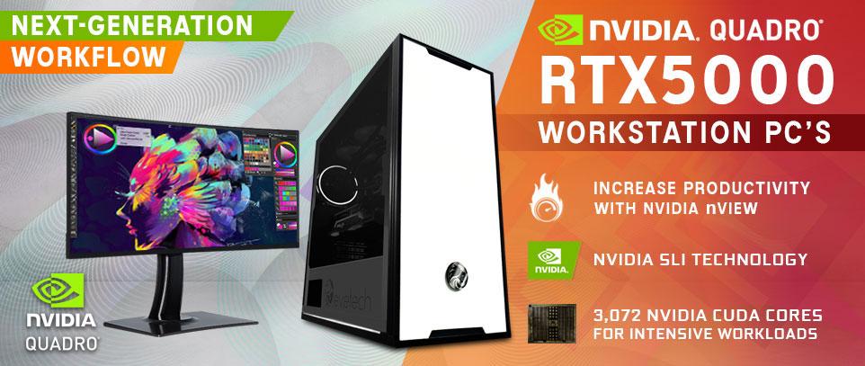Quadro RTX 5000 Workstation PCs
