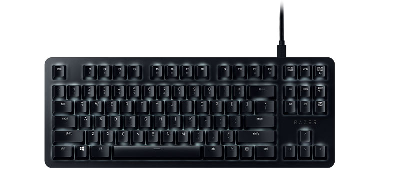 Razer Blackwidow Lite Gaming Keyboard Orange Switches