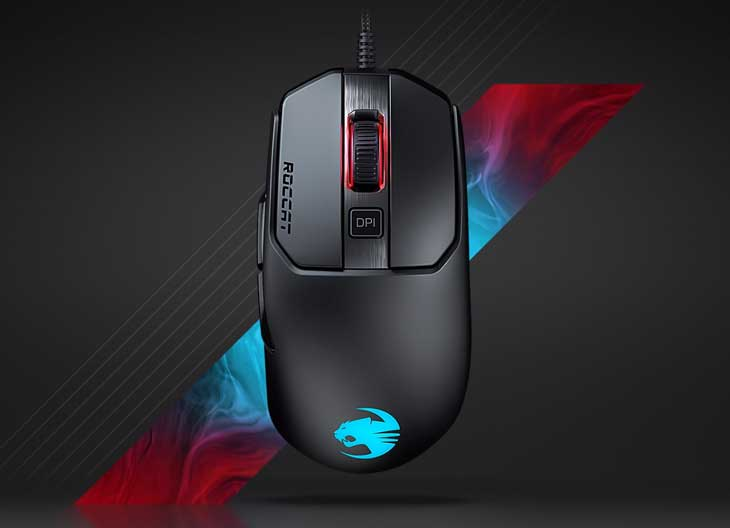 ROCCAT Kain 120 AIMO RGB Gaming Mouse - Black