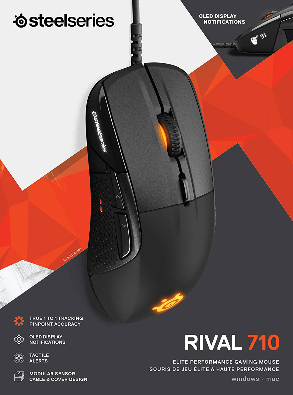 Steelseries Rival 710 Optical Gaming Mouse .