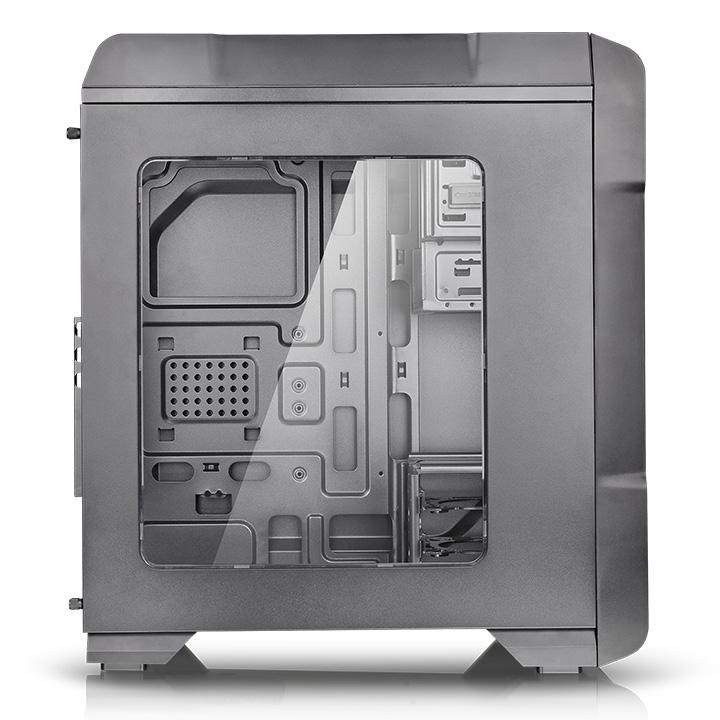 Thermaltake Versa N23 Mid-Tower Gaming PC Case / Gaming-Oriented Concept /  Innovative Tool-Less Design / Hidden I/O Ports / Supreme Ventilation