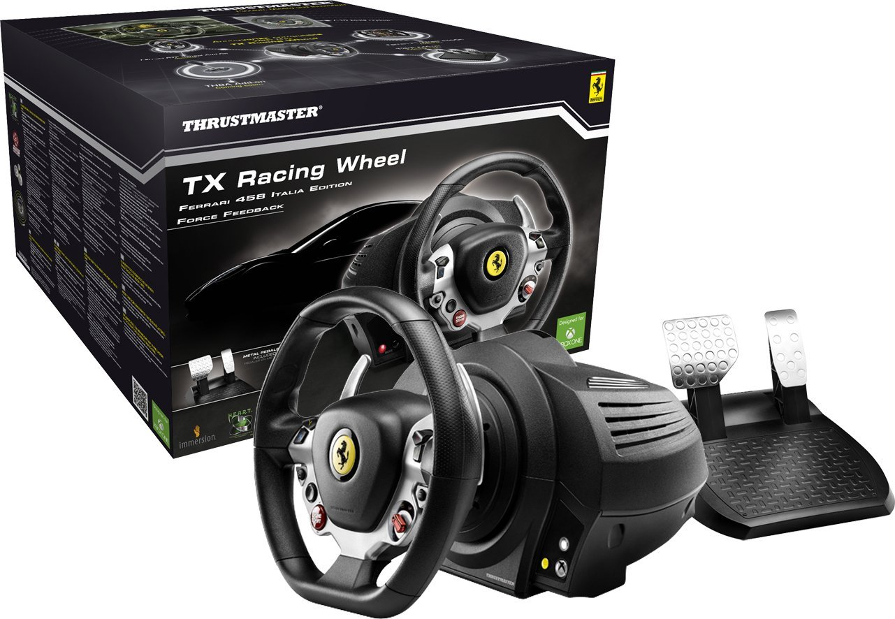 Thrustmaster 4460104 TX Racing Steering Wheel / Supports PC/XBOX ONE / Xbox  Guide button / Ultra-precise wheel / Brushless industrial motor / Fluid