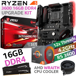 AMD RYZEN 5 3600 MSI X470 PRO 16GB DDR4 Upgrade Kit