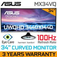 "ASUS MX34VQ 34"" (3440 x 1440) Designo Curved Ultra Wide 100Hz Quad HD"