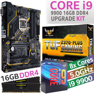 Core i9 9900 TUF Z370-Plus 16GB DDR4 Upgrade Kit