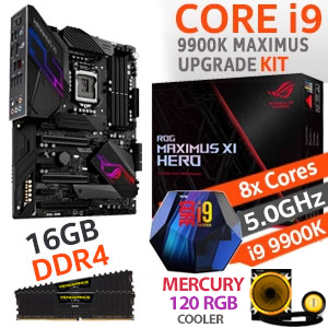 Core i9 9900K ROG Maximus XI Hero 16GB DDR4 Upgrade Kit