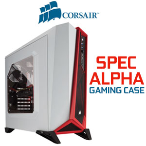 Corsair SPEC-ALPHA Mid-Tower Gaming Case Red White