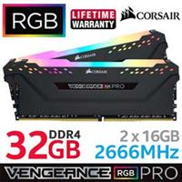 Corsair Vengeance RGB PRO 32GB 2666MHz Black