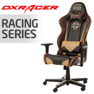 DXRacer Racing Series Black, Beige & Burgundy Chair