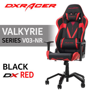 DXRacer Valkyrie Series V03-NR Gaming Chair - Black/Red