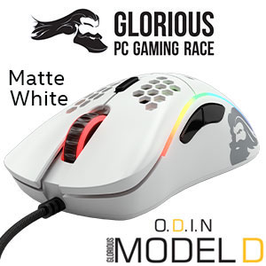 Glorious Model D Ergonomic Mouse - Matte White