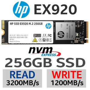 HP EX920 M.2 256GB PCl-e NVMe Internal SSD
